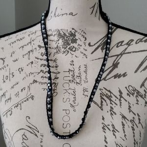 Jewelry - Fun leather beaded necklace